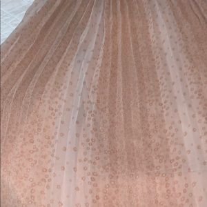 LC Lauren Conrad Midi Blush Pink  Pleated Skirt